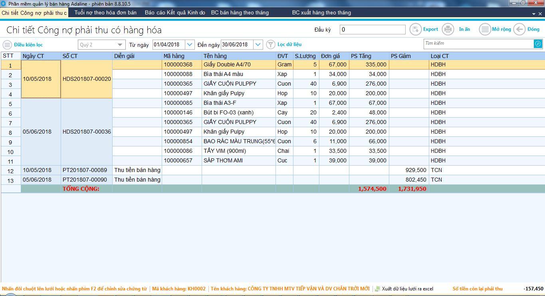 Phần mềm quản lý siêu thị mini